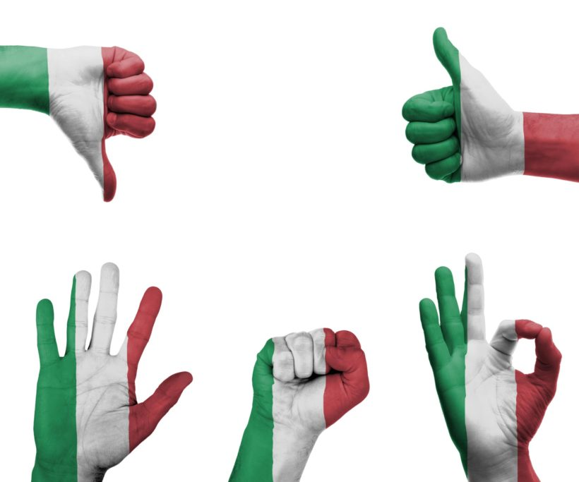 włoskie gesty