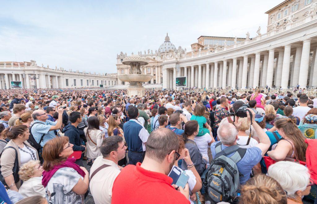 udział w mszy papieskiej